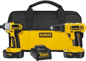 Refurb DeWalt 18V Cordless Compact Drill & Driver Kit for $120 + free shipping