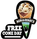 Upcoming free cone day at Ben & Jerry's
