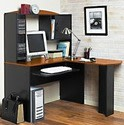 Orion L-Shaped Desk with Hutch