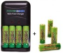Powergenix Fast Charger w/ 4 NiZn AA Batteries