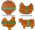 Old Mountain Fun Shaped Bamboo Cutting Board 3-Pack
