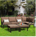 Sandhill Outdoor 7-Piece Sectional Sofa Set