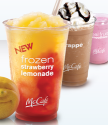 McDonald's coupon: $1 off McCafe frozen lemonade, smoothie, chiller, or frappe