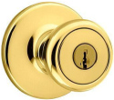 Kwikset Keyed Entry Polished Brass Knob w/ Smart Key