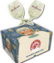 New Belgium Globe Beer Glass 2-Pack, Charity Donation for $9 + free shipping