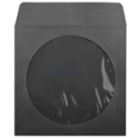 Black CD / DVD Paper Sleeve 100-Pack