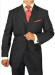 Gino Valentino Men's 3-Button Suit for $99 + $15 s&h