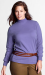 Lands' End Women's Plus Size Cotton Mock Turtleneck for $7 + $6 s&h