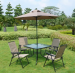 Fitzpatrick 6-Piece Patio Set with Umbrella for $174 + $20 s&h