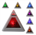 7-LED Color-Changing Pyramid Digital Alarm Clock for $4 + $1 s&h