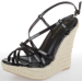 Wild Diva Women's Madison 45 Wedge Sandals for $11 + $7 s&h