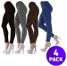 Women's Fleece-Lined Leggings 4-Pack for $17 + free shipping