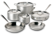 All-Clad Stainless Steel 10-Piece Cookware Set, more for $400 + free shipping