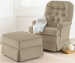 Best Chairs Inc. Chloe Swivel Rocker for $298 + free shipping, Ottoman for $136