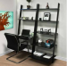 Leaning Shelf Bookcase with Computer Desk for $120 + free shipping