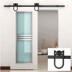 Yaheetech 6ft Barn Sliding Door Hardware Set $49
