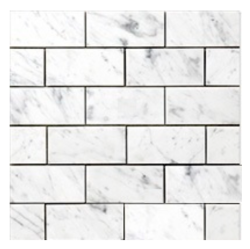 8 Carrara Venato Marble Subway Wall Tiles for $7