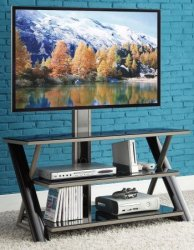 "Whalen 50"" 3-in-1 Flat-Panel TV Stand for $109"