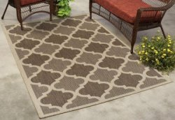 Mainstays Trellis 10-Foot Indoor/Outdoor Rug $65