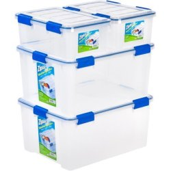 Ziploc Weathertight Storage Bin 4-Piece Set $34