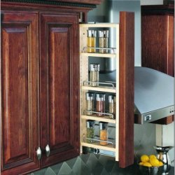 "Rev-A-Shelf 3"" Wide Upper Cabinet Pull Out for $62"