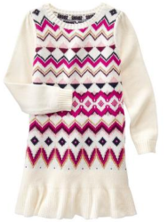 Gymboree Girls' Fair Isle Sweater Dress for $18