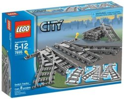LEGO City Switch Tracks Set for $12