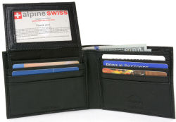 Alpine Swiss Men's RFID Leather Wallet $13