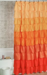 Maribella Ombre Ruffled Shower Curtain for $24