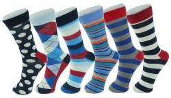 6 Pairs of Alpine Swiss Men's Dress Socks for $8
