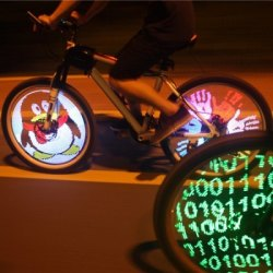 "Programmable LED Light for 26"" Bike Wheels for $23"