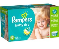Pampers Baby Dry Diaper Size 6 128-Pack for $14
