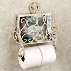 Aldabella Magazine Rack w/ Toilet Roll Holder $47