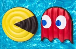 Pac-Man Pool Float Set for $50