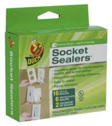 Duck Brand Foam Socket Sealers 24-Pack for $3