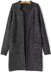 SheIn Women's Stand Collar Knit Cardigan for $26