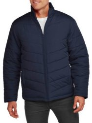 Faded Glory Men's Light Bubble Jacket for $10