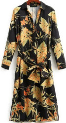 SheIn Women's Floral Midi Shirt Dress for $32
