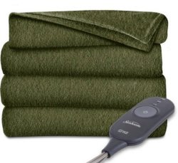 Sunbeam Fleece Heated Throw for $20