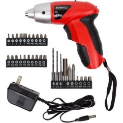 Stalwart 25-piece 4.8V Cordless Screwdriver $17