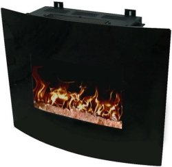 "Decor Flame 24"" Wall-Mounted Fireplace for $99"