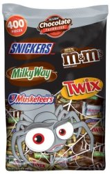 Mars Choc Favorites 400-Piece Halloween Candy $22