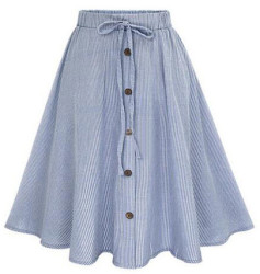 SheIn Women's Striped Buttoned Front Skirt $17