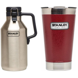 Stanley Growler / Vacuum Pint Glass Bundle for $19