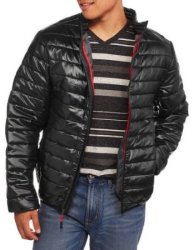Men's Ultra Light Coated Nylon Puffer Jacket $12