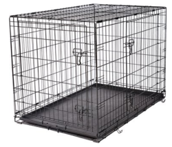 "Frisco Fold & Carry 42"" Double Door Dog Crate $50"