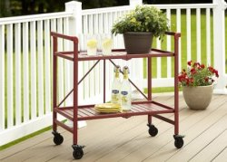 Cosco Metal Slat Folding Serving Cart for $46