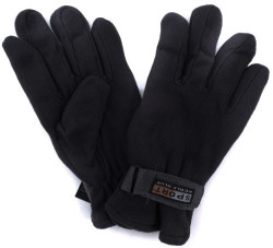 Polar Fleece Men's Gloves 3-Pack for $6