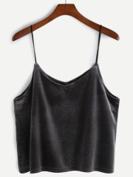 SheIn Women's Velvet Cami Top for $9