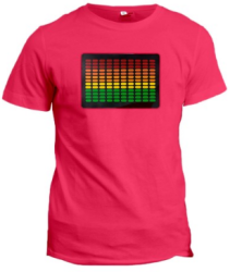 Unisex Sound-Activated LED T-Shirt for $8
